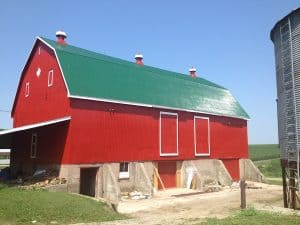 Bright Red Barn Repair