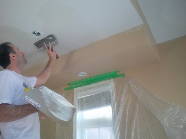 scraping popcorn ceiling off ceiling